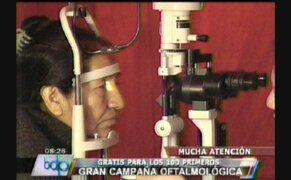 Gran campaña oftalmológica gratuita en la esquina de la televisión