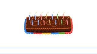 Google cumple 14 años y lo celebra con un doodle en forma de torta