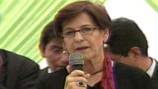 Alcaldesa de Lima brinda conferencia de prensa