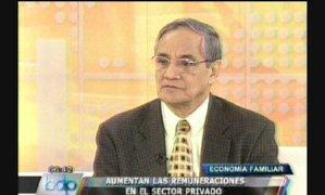 Jorge Gonzales comenta el incremento de los sueldos en el sector privado