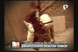 Encapuchados asaltaron con armas de fuego a comerciantes en SMP