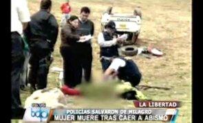 Un muerto y tres policías heridos dejó accidente en La Libertad
