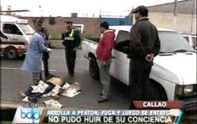 Callao: chofer de combi arrolló a hombre y se dio a la fuga