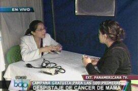 Campaña de salud gratuita en los exteriores de Panamericana Televisión