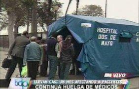 VIDEO: médicos del Minsa atienden a pacientes en carpas