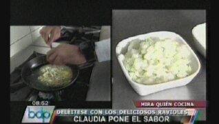 """VIDEO: aprenda a preparar ravioles en """"Mira quien cocina"""""""