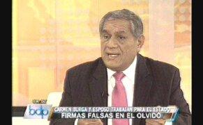 """Excongresista Edgar Villanueva calificó de """"locura"""" caso de Carmen Burga"""