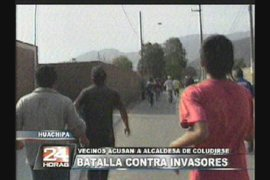 Vecinos acusan a alcaldesa de coludirse con invasores