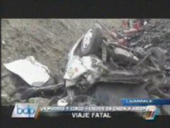Cajamarca: Camioneta cae a abismo deja un muerto y cinco heridos