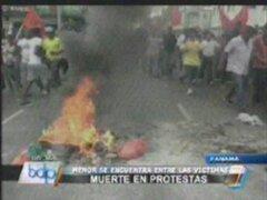 Menor muere en protestas contra legislación en Panamá