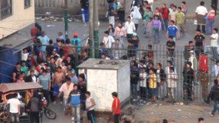 Policías antimotines realizan nuevo operativo en La Parada