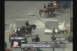 Gabriel Prado: Nadie ha ingresado a la zona de La Parada