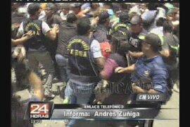 VIDEO: Tensos momentos desatados alrededor de La Parada