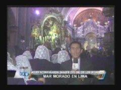 Miles de personas acompañaron al Señor de los Milagros en su quinto recorrido procesional