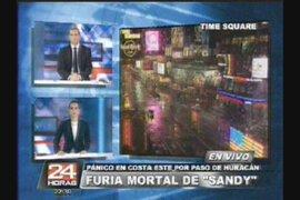 """Pánico por paso de huracán """"Sandy"""" en Estados Unidos"""