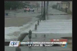 Huracán Sandy: 20 muertos y decenas de heridos deja a su paso por EE.UU.