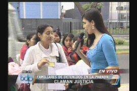 Familiares de los detenidos de La Parada claman libertad