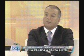 Milton Von Hesse: No hay motivo para desabastecimiento de alimentos en Lima
