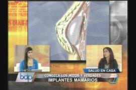 Especialista no recomienda prótesis mamarias antes de los 18 años