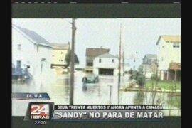 Terrible huracán Sandy no para de matar