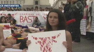 Activistas antitaurinos se manifestaron en Plaza San Martín