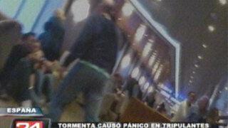 España: pasajeros vivieron pánico por tormenta en crucero