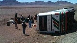 Bus de Ormeño se despista en Atacama