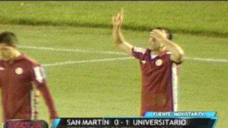 Universitario ganó 1 - 0 a la San Martín y ya está cerca de la Sudamericana