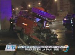 Camión de caudales choca con camioneta dejando dos muertos y heridos