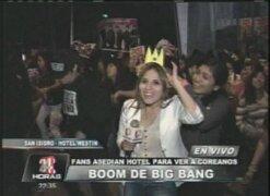 Alboroto en Jorge Chávez y hotel Westin por llegada de Big Bang