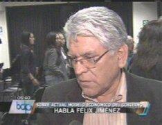 Félix Jiménez: Modelo económico debe cambiar para permitir inclusión social