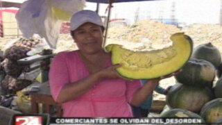 Comerciantes de La Parada llegaron a Jicamarca para vender sus productos