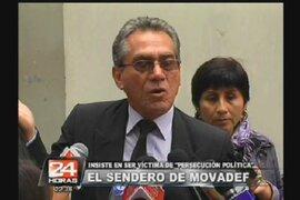 """Alfredo Crespo Insiste en que Movadef  es víctima de """"persecución política"""""""