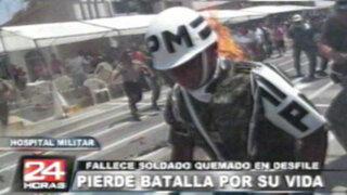 Después de 15 días fallece soldado que se incendió en desfile militar