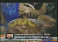 Latinos celebraron con recetas propias el día de acción de gracias