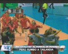 Perú clasificó al mundial de vóley de Tailandia 2013