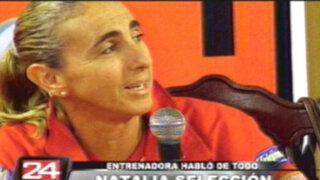 Natalia Málaga evitó que la prensa la compare con Sergio Markarián