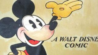 Por más de 100 mil dólares se vendió  un antiguo póster de Mickey Mouse