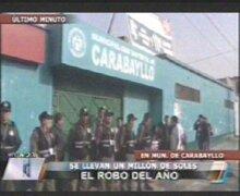 Delincuentes robaron un millón de soles de la Municipalidad de Carabayllo