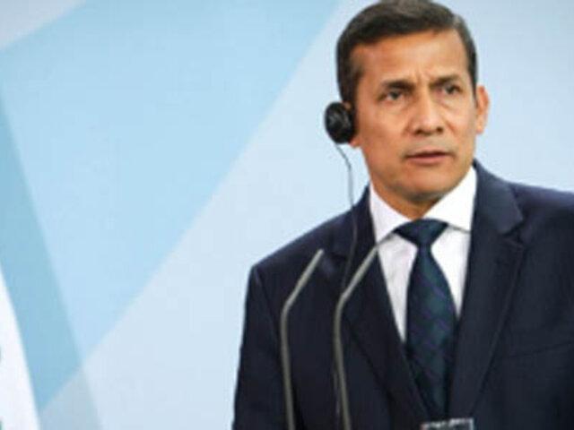 Presidente Ollanta Humala anunció interés del Perú en ingresar a la OSCE