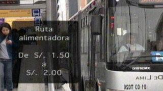 Municipio y operadores del Metropolitano no llegan a acuerdo por tarifas