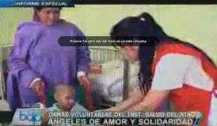 Conozca a las ángeles de rojo del Instituto de Salud del Niño