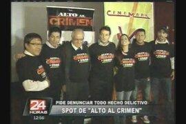 """Spot de """"Alto al Crimen""""  incentiva a denunciar hechos delictivos"""