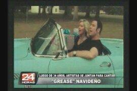 Luego de 34 años, artistas de 'Grease' se juntan para cantar algo navideño