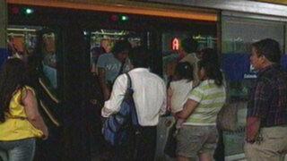 Alza de pasajes en el Metropolitano generó malestar en los usuarios