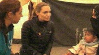Jordania: Angelina Jolie visitó campamento de refugiados sirios