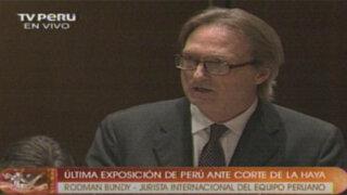 Alegato oral completo de Rodman Bundy, defensa jurídica de Perú