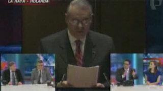 Allan Wagner recalcó el compromiso del Perú en respetar el fallo de La Haya
