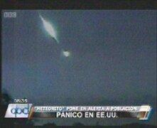 EEUU: pánico en la ciudad de Texas por caída de un meteorito