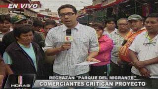 Comerciantes de La Parada protestan en contra del 'Parque del Migrante'